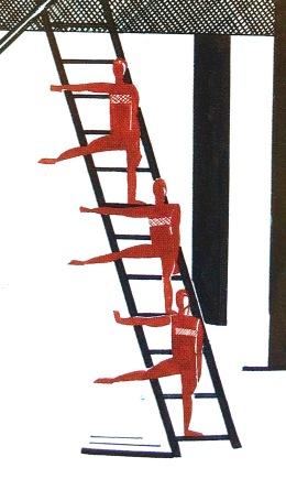 Aleksandra Ekster, Set design for Satanic Ballet by Alexander Scriabin, fragment, 1922